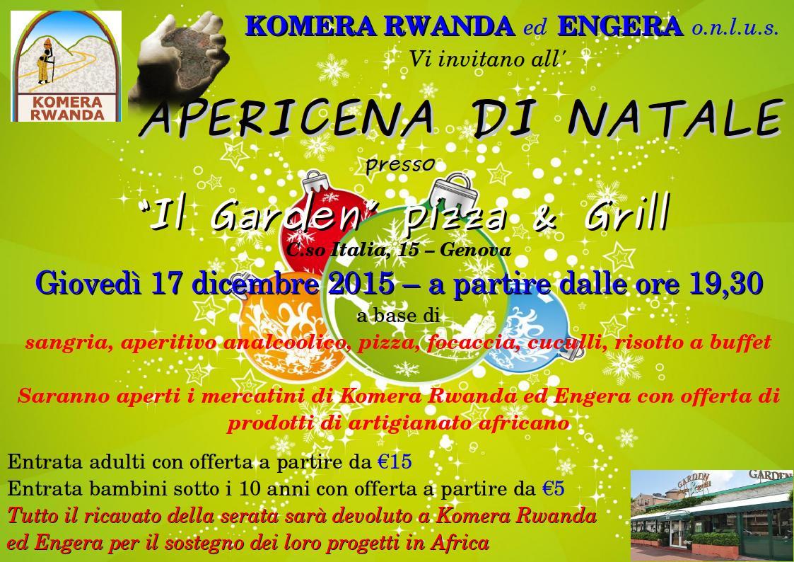 Auguri Di Natale 105.Apericena Di Natale Delle Associazioni O N L U S Komera Rwanda Ed